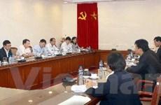 TTXVN tiếp Đoàn Cục Thông tin Báo chí Triều Tiên