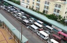 Kẹt xe nghiêm trọng tại Cụm phà Hậu Giang