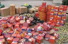 Bắt giữ hàng trăm kg pháo nhập lậu từ Trung Quốc