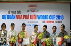 """Trao giải dự đoán """"Vua phá lưới World Cup 2010"""""""