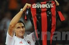 """Ibrahimovic thử sức với số áo """"kém may"""" ở Milan"""