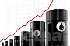 Giá dầu thô tăng nhẹ trên thị trường thế giới