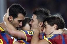 Barca chiến thắng nhọc nhằn trước Sporting Gijon