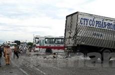 Tai nạn liên hoàn trên quốc lộ, 5 người thương vong