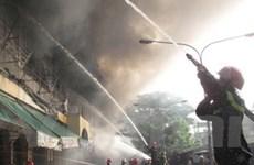 Cháy trung tâm thương mại lớn nhất tỉnh Hà Tĩnh