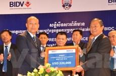 BIDC tiếp tục tài trợ giải bóng đá Campuchia Cup