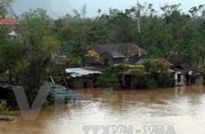 Cấp phát gạo, cứu trợ cho các hộ dân Quảng Bình