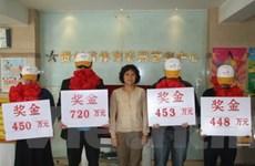 Một người Trung Quốc trúng xổ số 38 triệu USD