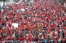 """Hàng nghìn người """"áo đỏ"""" lại biểu tình tại Bangkok"""