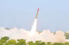 Pakistan vừa thử tên lửa đạn đạo tầm ngắn Hatf II