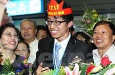 Lễ đón đoàn học sinh thi Olympic Vật Lý quốc tế