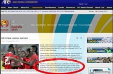 """Đối thủ của Việt Nam bị trang web AFC gọi là """"Khỉ cát"""""""