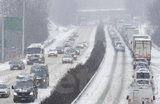 Bão tuyết hoành hành ở nhiều khu vực của châu Âu