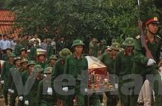 An táng hài cốt các liệt sỹ hy sinh tại Campuchia