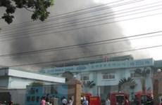 Xảy ra cháy lớn ở khu công nghiệp Sóng Thần 2