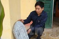 Phát hiện tấm bia đá cổ về văn chỉ ở Thái Nguyên