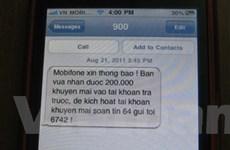 MobiFone khuyến cáo khách hàng về tin nhắn giả mạo