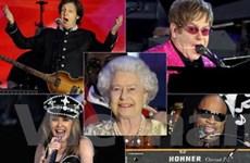 Các huyền thoại âm nhạc biểu diễn mừng Nữ hoàng