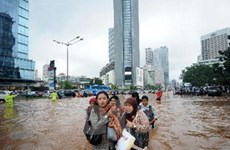 Indonesia báo động khẩn cấp về tình trạng ngập lụt