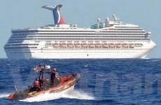 Tàu Carnival Triumph cập cảng sau 4 ngày gặp nạn