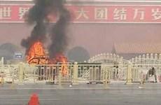 Ôtô lao vào đám đông bốc cháy ở Thiên An Môn