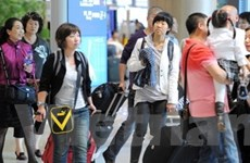 Lượng hành khách quốc tế đi, đến Hàn tăng kỷ lục