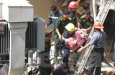 Cháu bé trong vụ sập nhà do nổ bình gas đã chết