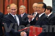 Nga-Trung cam kết tăng cường hợp tác chiến lược