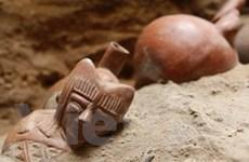 Phát hiện kết cấu tường nghiêng trong mộ cổ