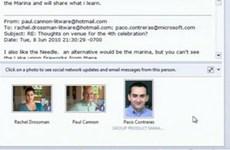 Mạng xã hội Facebook được tích hợp trong Outlook