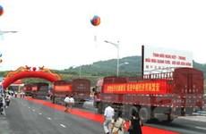 Thông cầu đường bộ sông Hồng biên giới Việt-Trung