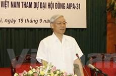 Việt Nam đã sẵn sàng cho Đại hội đồng AIPA-31