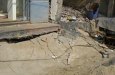 Phú Thọ: Hàng loạt ngôi nhà bị lún nghiêm trọng