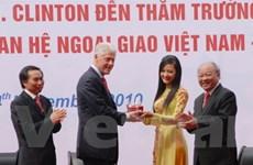 Cựu tổng thống Bill Clinton giao lưu với sinh viên