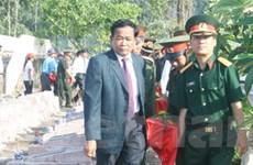 Tổ chức lễ an táng hài cốt liệt sỹ hy sinh tại Lào