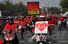 """Thái Lan chuẩn bị đối phó biểu tình của phe """"áo đỏ"""""""