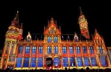 Rực rỡ lễ hội ánh sáng tại thành phố Ghent của Bỉ