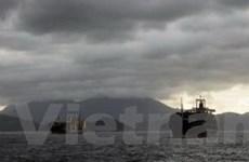 Cứu sống 21 thủy thủ tàu hàng chìm do bão Utor
