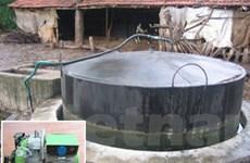 Nông dân làm máy phát điện bằng khí biogas