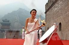 Lấy lửa Asian Games 16 tại Vạn lý Trường thành
