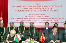 Việt Nam-Oman tăng cường thương mại và đầu tư