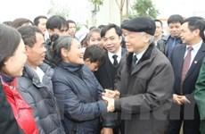 Tổng Bí thư chúc Tết nhân dân huyện Thạch Thất