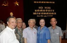 Tổng Bí thư tiếp xúc cử tri quận Hoàn Kiếm, Tây Hồ