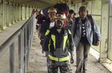 Sập hầm mỏ ở Indonesia, hàng chục người mắc kẹt