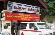 1 thí sinh Hà Nội bị cấp cứu khi đang làm bài thi