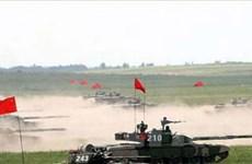 Nga-Trung Quốc bắt đầu tập trận chung