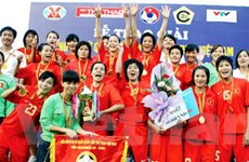 Việt Nam vô địch giải bóng đá nữ quốc tế TKV 2009
