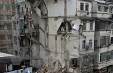 Sập chung cư cũ ở Hongkong gây thương vong