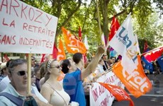 Pháp: Làn sóng mới phản đối nâng tuổi nghỉ hưu