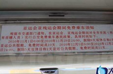 Miễn phí phương tiện công cộng trong dịp ASIAD-16